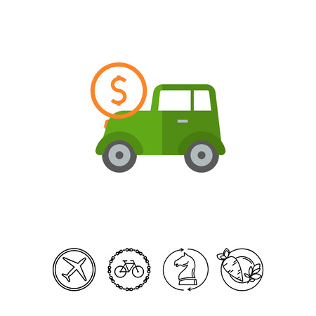 expenses: Car expenses icon Illustration
