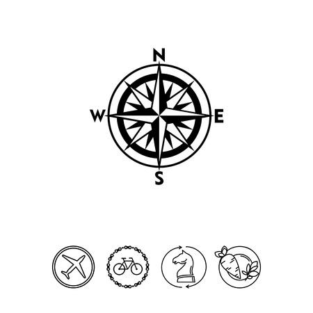 Cartografia semplice icona