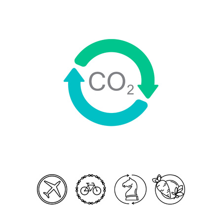 dioxide: Carbon dioxide cycle Illustration