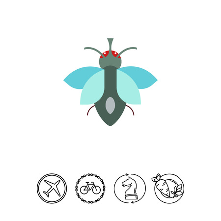 Cartoon fly icon
