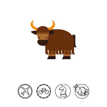 Cartoon yak icon