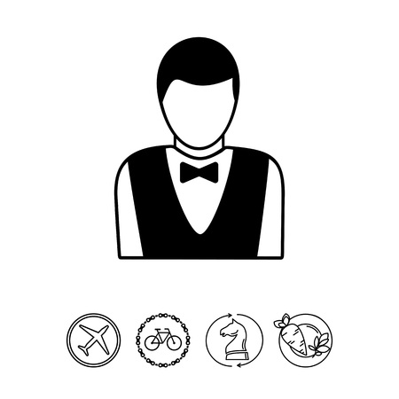 Casino Croupier Icon