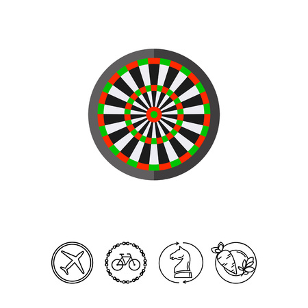 Dartboard, target for darts. Throwing, game, aiming. Darts concept. Can be used for topics like sport, health, darts. Illustration