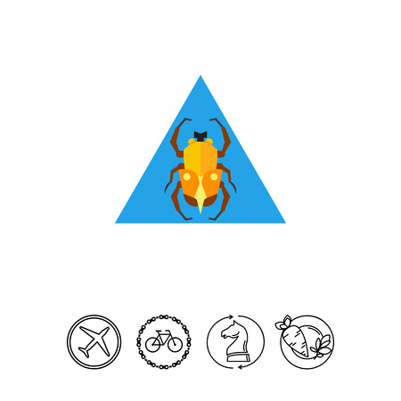 Egypt scarab beetle with triangle in background. Religion, sacred, sun. Egypt concept. Can be used for topics like Egypt, mythology, history.