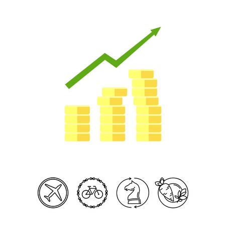 gaining: Gaining profit icon Illustration