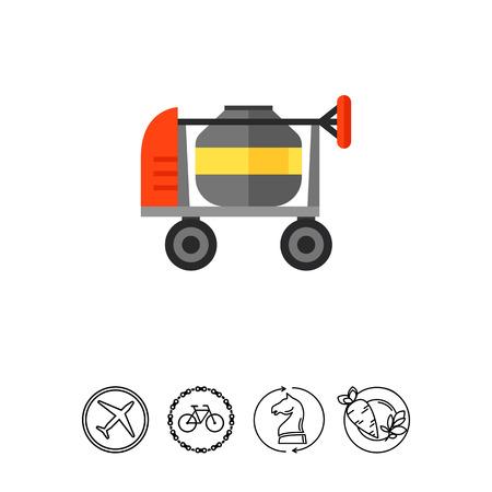 mélangeur de béton icône