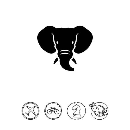 tusks: Elephant head icon