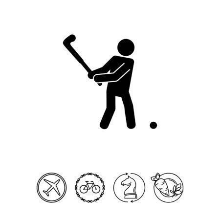 golfer swinging: Golf Player Icon