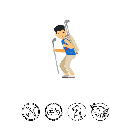 caddie: Golf Caddy Icon Illustration