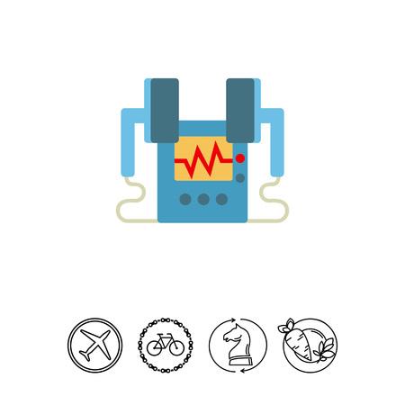 Heart defibrillator icon Illustration