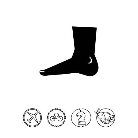 Human foot icon