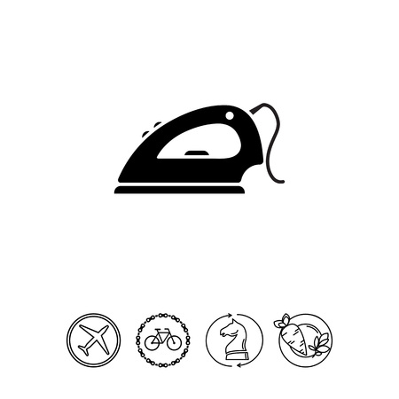Icon of iron with cord Illustration