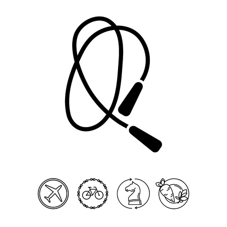 gym equipment: Jumping rope icon Illustration
