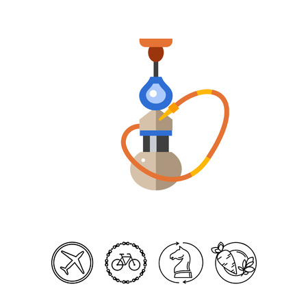 Hookah. Tobacco, addiction, leisure. Smoking concept. Can be used for topics like smoking, health, business.