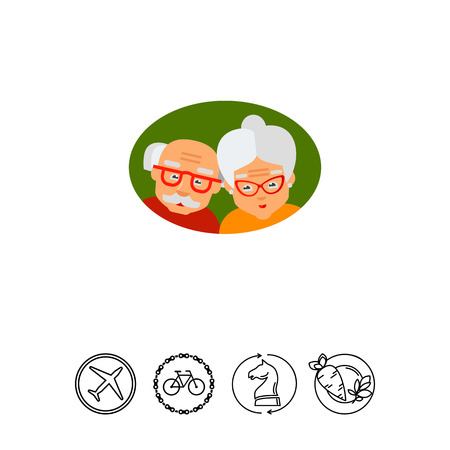 poverty: Elderly Couple as Old Age Concept Icon