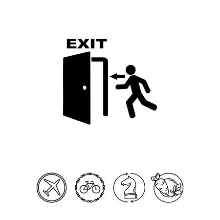 Nooduitgang eenvoudige pictogram