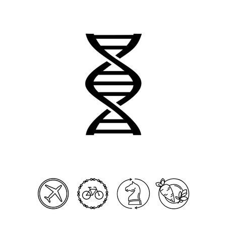 Genetics simple icon