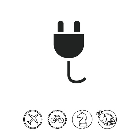power cables: Electric plug icon