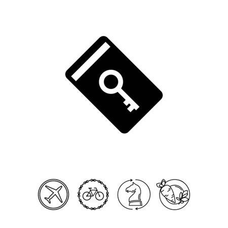 keycard: Electronic keycard icon Illustration