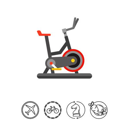 Exercise Bike Icon Illustration