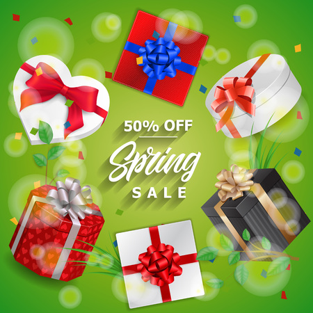Spring Sale Lettering and Six Gifts