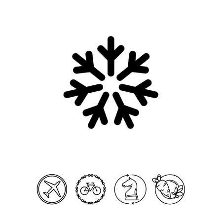 Cold sign icon Illustration