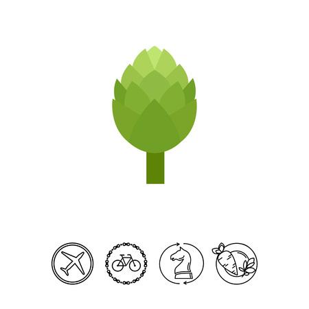 Groen artisjok pictogram