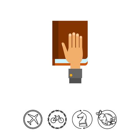 Hand auf Verfassung als Eid Konzept Icon Standard-Bild - 78508133