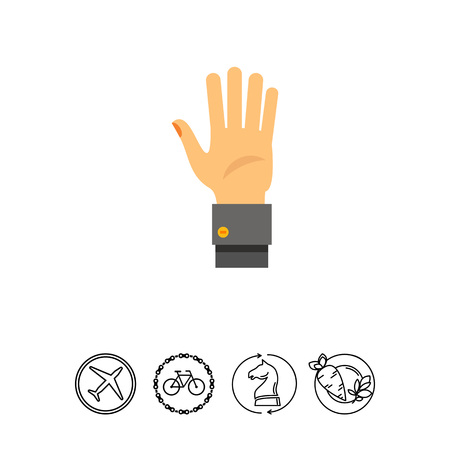 mobile apps: Hand Palm Icon Illustration