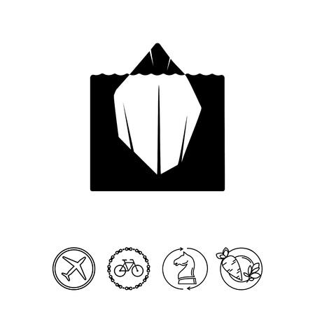 Iceberg simple icon