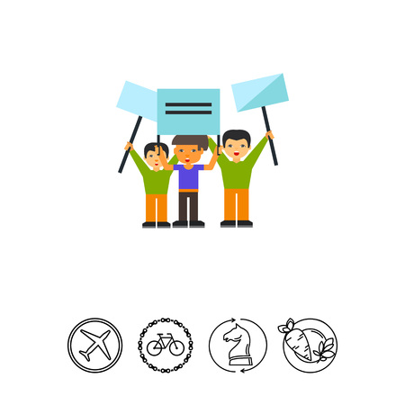 Group of People Demonstrating Icon