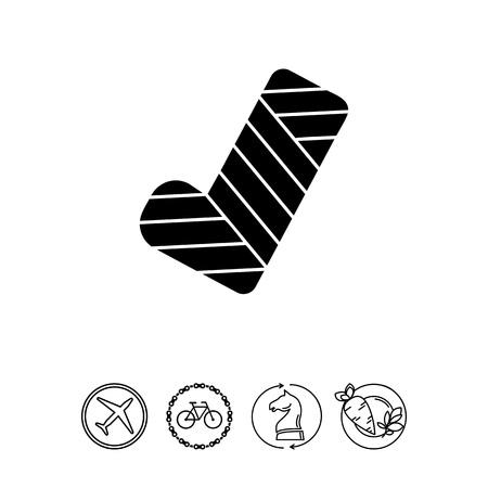 Gypsum Concept Icon