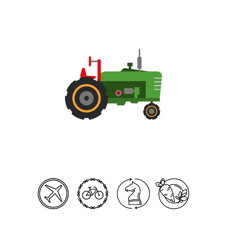Industrial tractor icon Illustration