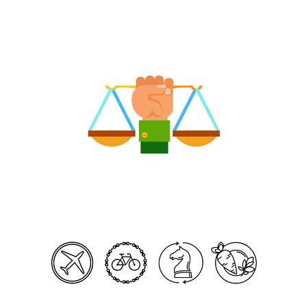 justice scale: Justice Symbol Icon