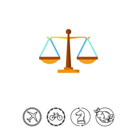 justice scale: Justice Weighing Scales Icon