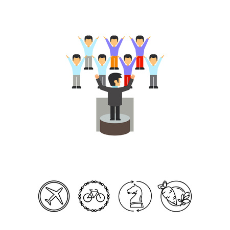 politicians: Leader Performing Before Audience Icon