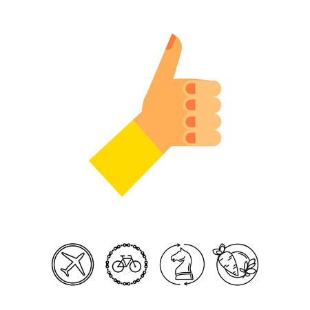 puños cerrados: Mano izquierda con el pulgar arriba icono