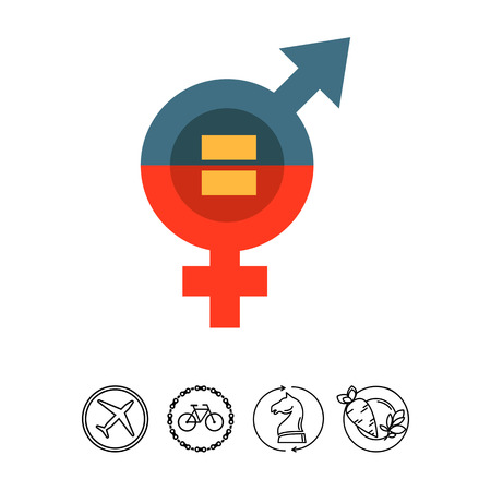 Male and female equality concept Illustration