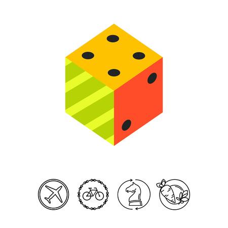 Logic Flat Icon Stock Photo