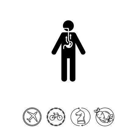 Man lijden van Reflux Icon