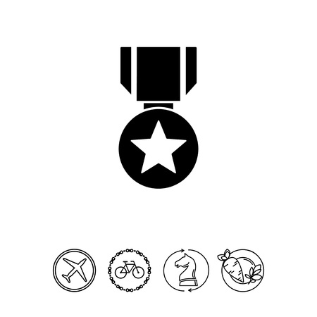 award winning: Medal simple icon