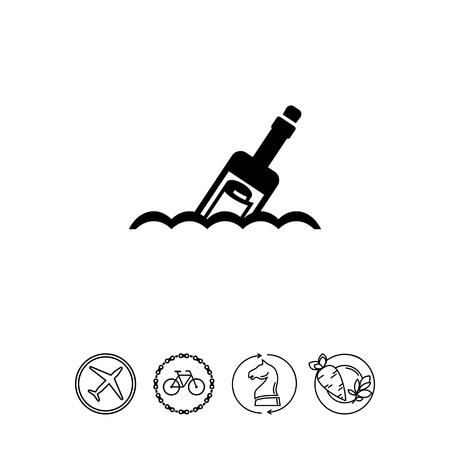 Message in bottle Illustration