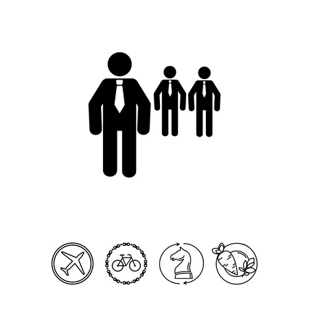 mobile apps: Men Wearing Ties as Boss Concept Icon
