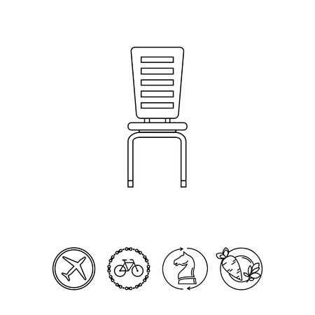 Moderne Stuhl-Symbol Standard-Bild - 78550995