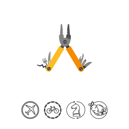Multi Tool Vector Icon Illustration