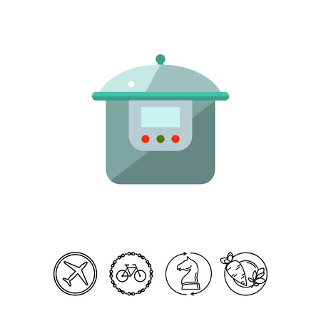 steam cooker: Multicooker flat icon