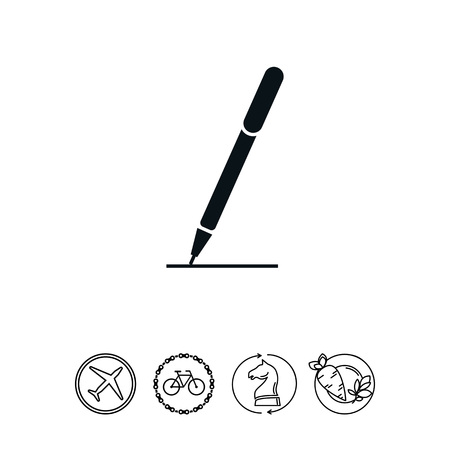 signing papers: Pen icon Illustration