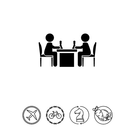 chess board: People Playing Chess Icon
