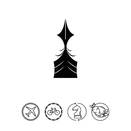 Quill pen icon Illustration