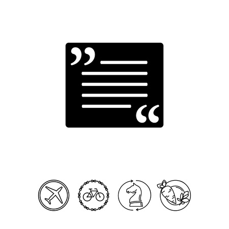 Quotation simple icon